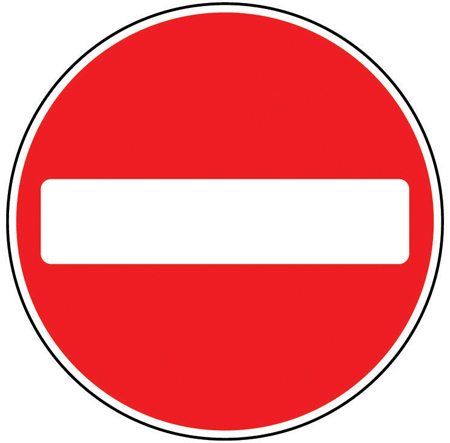 Sign No Entry Class 1 Reflective Traffic Sign 600mm