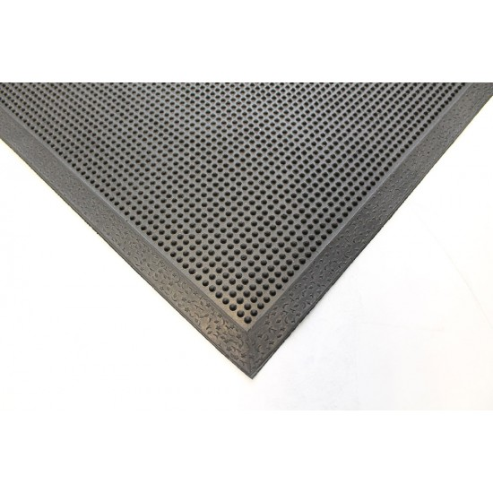 Entrance Mat - rubber with beveled edges Black 0.9m x 1.5m
