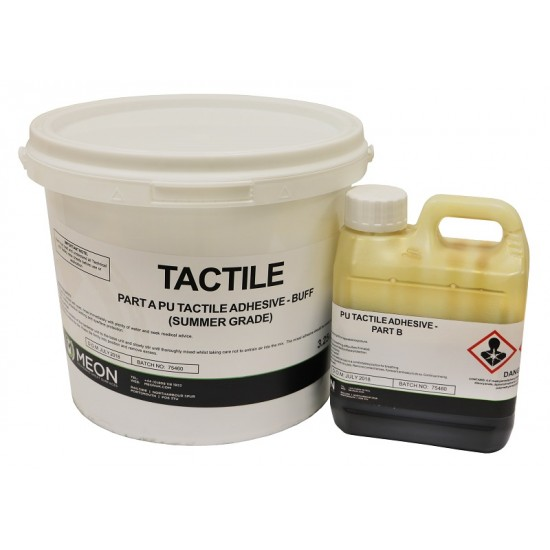 Tactile blister tile adhesive
