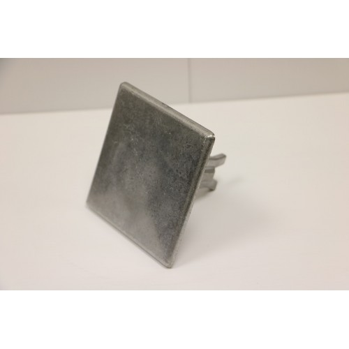 Road Stud - Square 100mm Smooth Aluminium