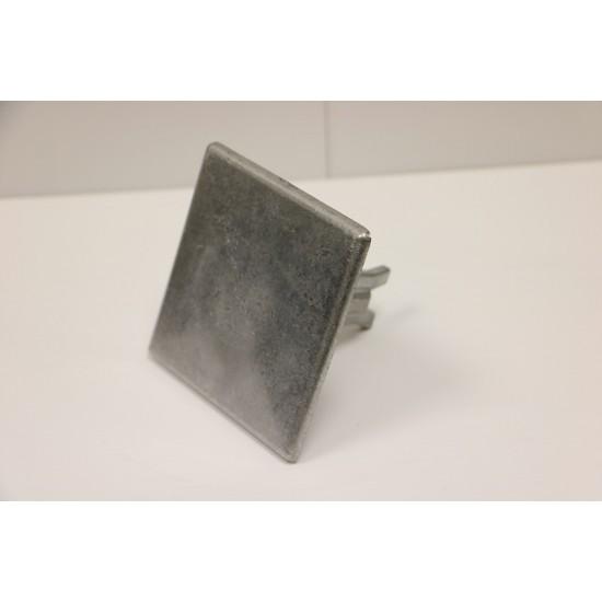 Road Stud - Square 100mm Smooth Aluminium