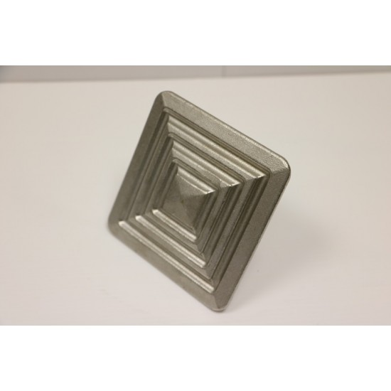 Road Stud - Square 100mm Stainless Steel Ribbed
