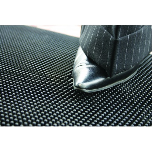 Entrance Mat - rubber with beveled edges Black 0.9m x 1.5m