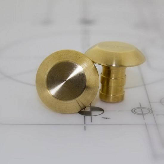 Tactile stud brass - Plain 25mm