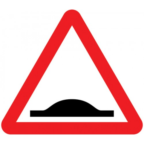 Sign - Speed Bump Class 1 Reflective Traffic Sign 600mm