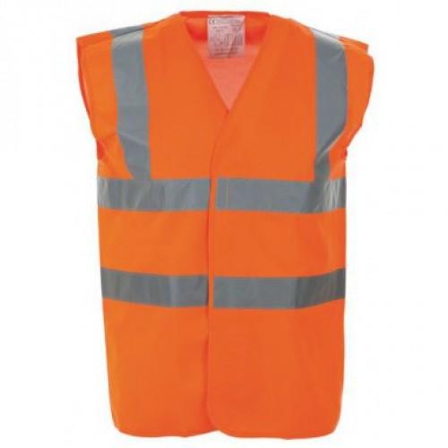 High Visibility Waistcoat - Hi Vis Orange