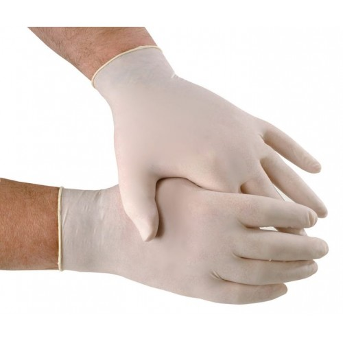 Latex Protective Gloves Powdered - Box of 100