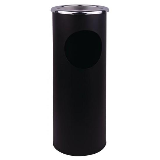 Ash Stand & Litter Bin Combined - Black