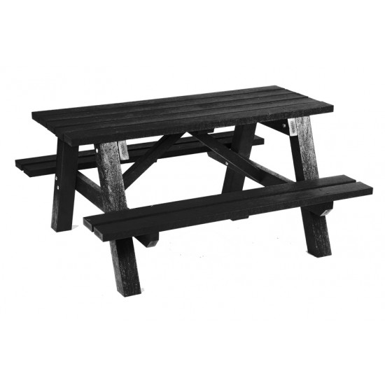 Recycled Picnic Table - Adult - Black
