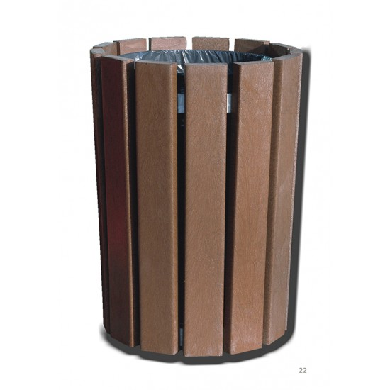 Recycled Bin - Round - Brown
