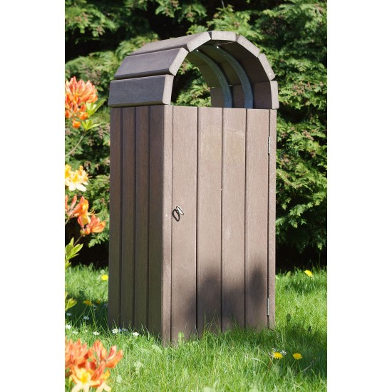 Recycled Bin - Dome Top - Brown