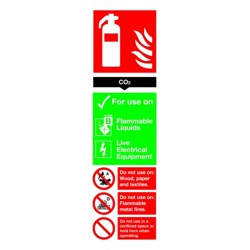 Sign - CO2 Extinguisher For Use On - Rigid