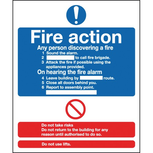 Sign - Fire Action Notice - Rigid