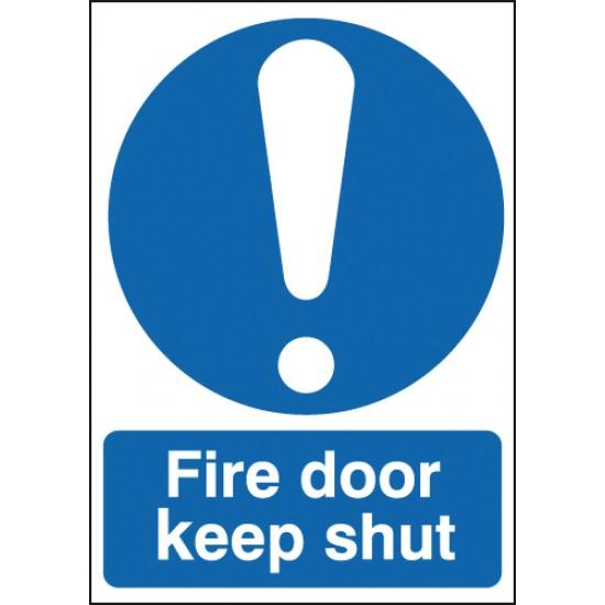 Fire Door Keep Shut sign - Rigid