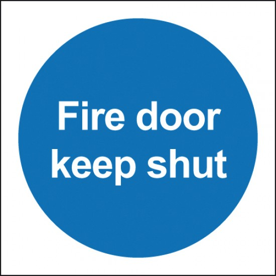 Fire Door Keep Shut sign - Rigid Square