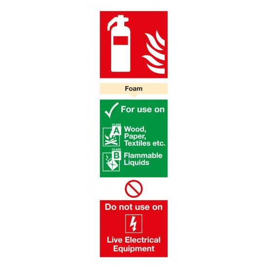 Foam Extinguisher For Use On sign - Rigid