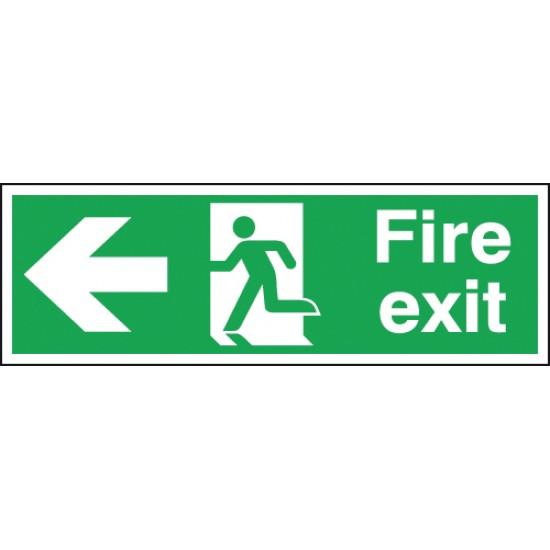 Fire Exit Running Man Arrow Left sign - Rigid