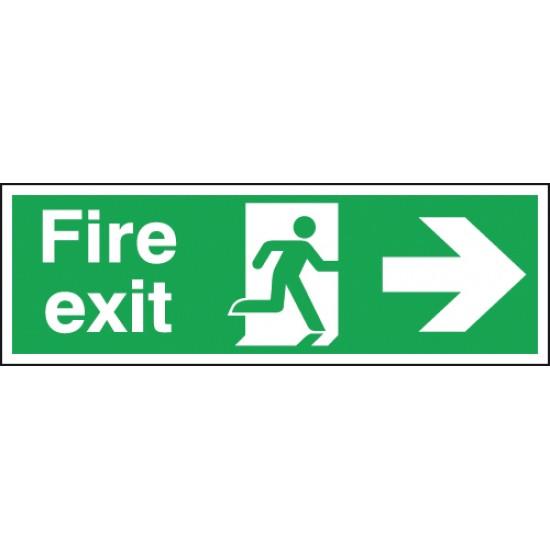 Fire Exit Running Man Arrow Right sign - Rigid