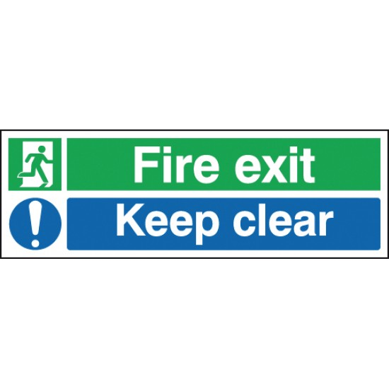 Fire Exit Keep Clear sign - Rigid