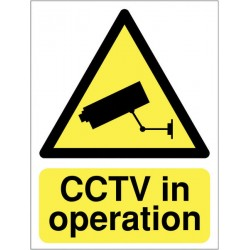 Sign - CCTV In Operation - Rigid