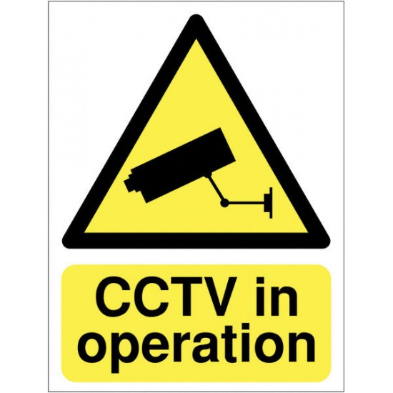 Sign - CCTV In Operation - Rigid