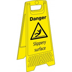 Sign - Danger Slippery Surface - 680mm x 300mm