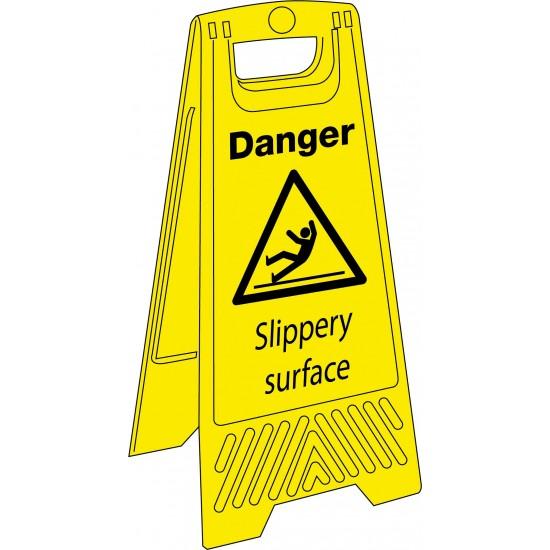 Sign - Danger Slippery Surface - 680mm x 300mm