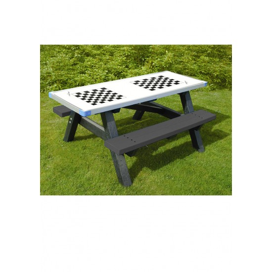 Recycled Activity Table - Junior - Black - Double Chess