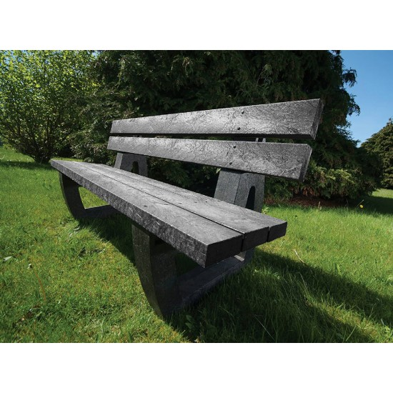 Recycled Bench - Fully Moulded - Black