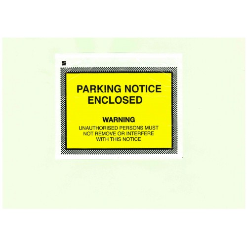 Parking Notice Enclosed Wallets Box 1000