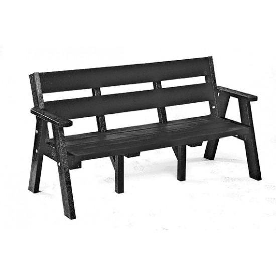 Recycled Bench - Sloper - Black