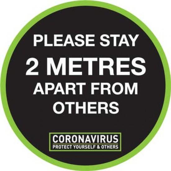 COVID 19 Stay 2m Apart Floor Vinyl