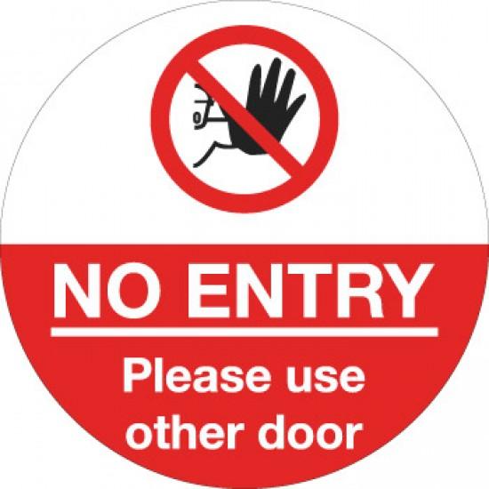 COVID 19 No entry Other Door Floor Vinyl