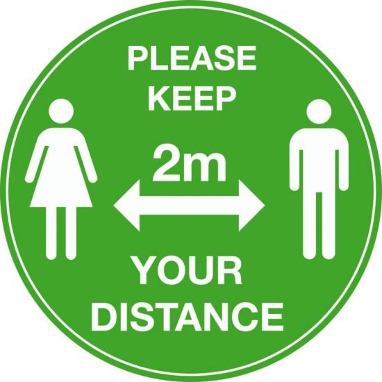 COVID 19 Please Keep Your Distance Floor Vinyl
