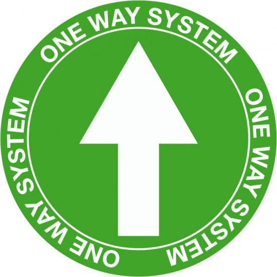 COVID 19 One Way System Floor Vinyl