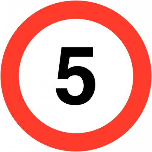 Sign - 5mph Class 1 Reflective Traffic Sign 600mm