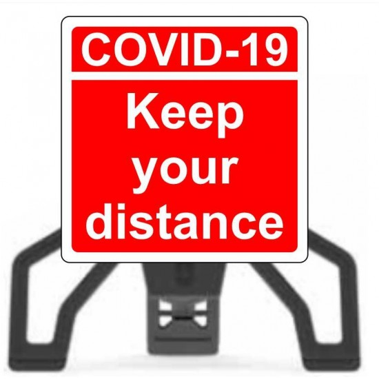 Covid19 Keep Your Distance with Sign Frame