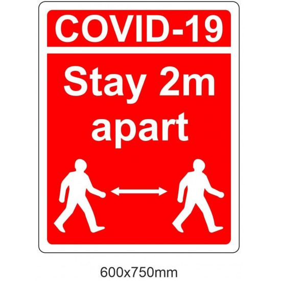 Covid19 Stay 2m Apart sign