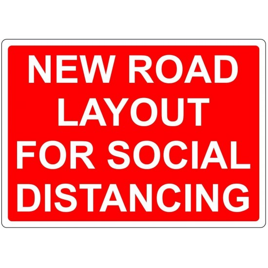 Covid19 New Road Layout Large with Sign Frame