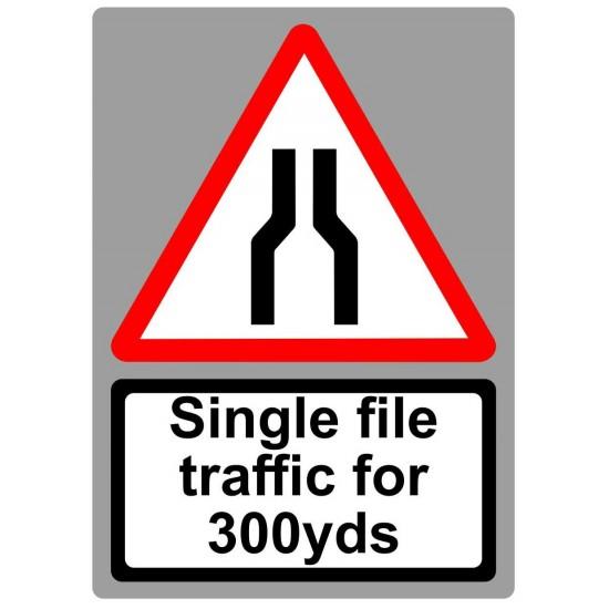 Covid19 Single File Traffic 300 yards