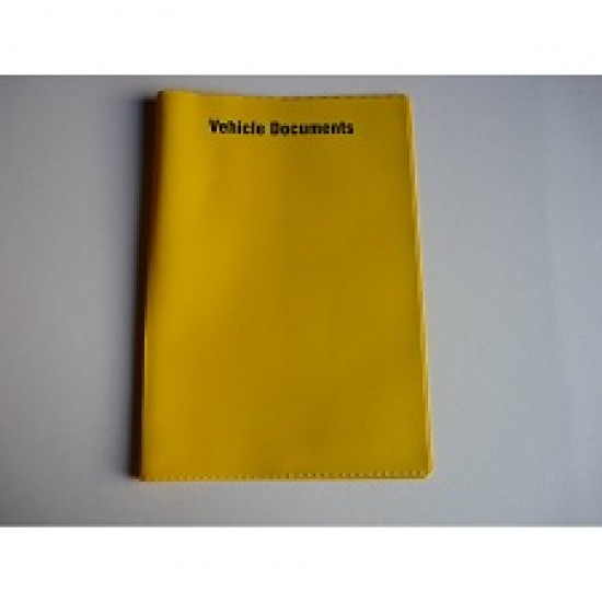 Vehicle Document Wallet - Yellow