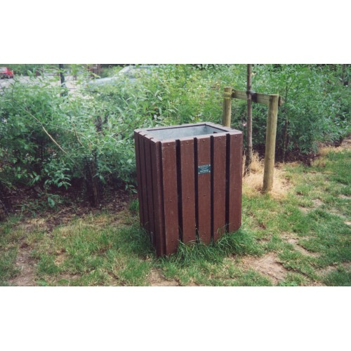 Recycled Bin - Square - Brown