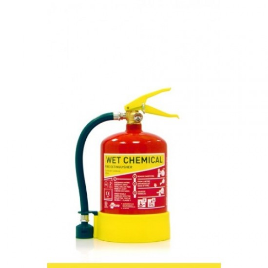 Fire Extinguisher Pack -  Premium Range Stored Pressure Wet Chemical Extinguisher with Hose and Sign