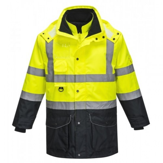 High Visibility 7-in-1 Contrast Traffic Jacket