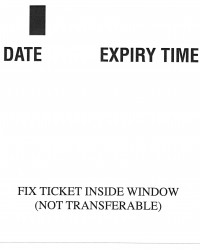 Pay and display tickets