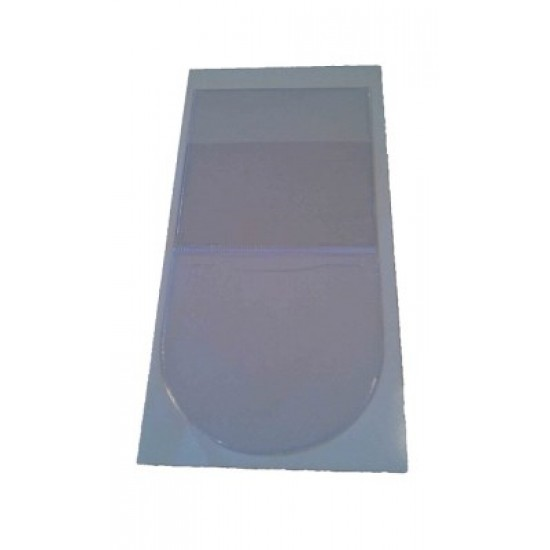 Permit Holder - square with round Permit or Tax Disc Holder- All Clear PVC