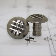 Tactile stud stainless steel -  Cross Grip 25mm