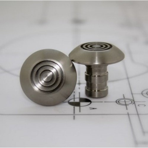 Tactile stud stainless steel - Circular Groove 25mm