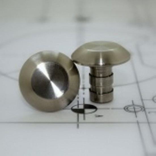 Tactile stud stainless steel - Plain 25mm