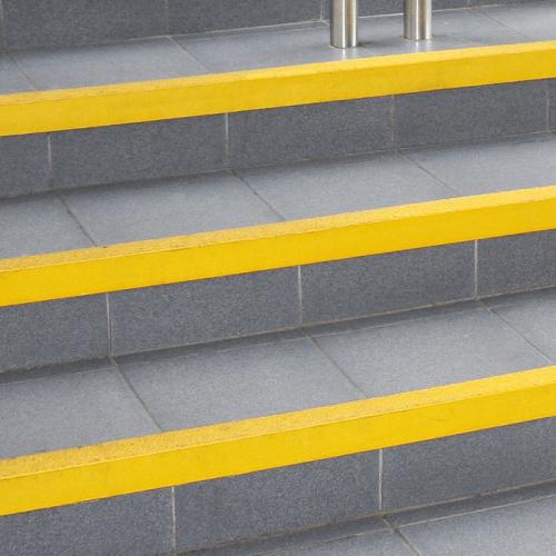Coba - COBAGRiP Stair Nosing - Safety Surface - Anti Slip - Yellow 1.5m x 55mm x 55mm
